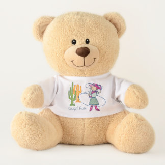 Cowgirl Rose  Lasso Tricks Teddy Bear