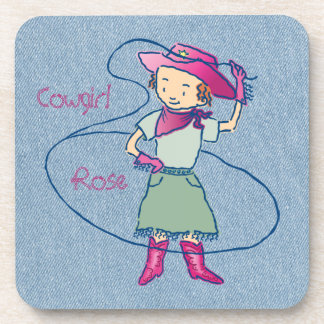 Cowgirl Rose Rodeo Champ Lasso Tricks Coaster