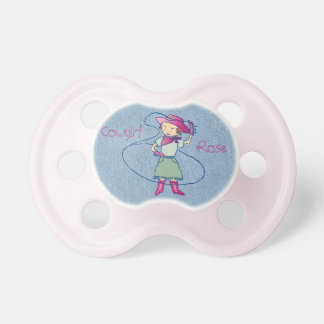 Cowgirl Rose Rodeo Champ Lasso Tricks Pacifier