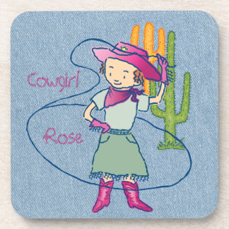 Cowgirl Rose Rodeo Champ Lasso Tricks with Cactus Coaster