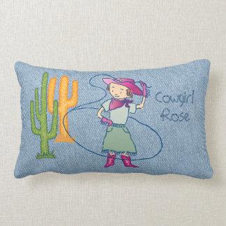 Cowgirl Rose Rodeo Champ Lumbar Pillow