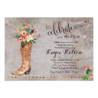 Cowgirl Rustic Bridal Shower Invitation