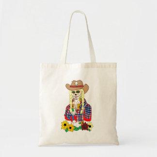 Cowgirl Sugar Skull Tote Bag
