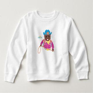Cowgirl Toddler Sweatshirt (black)