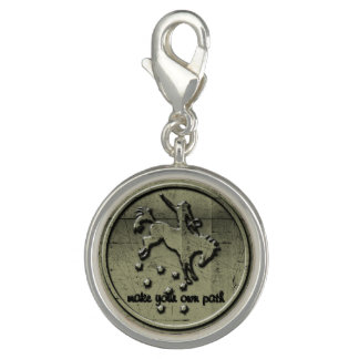 Cowgirl Up Horse Rider Charm