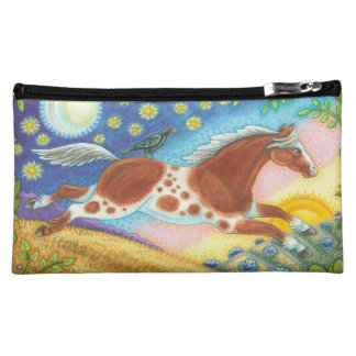 Cowgirl WILD HORSE MUSTANG COSMETIC BAG