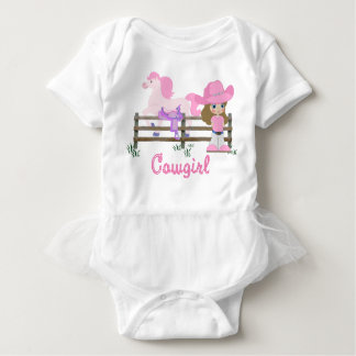 Cowgirl With Horse Baby Bodysuit