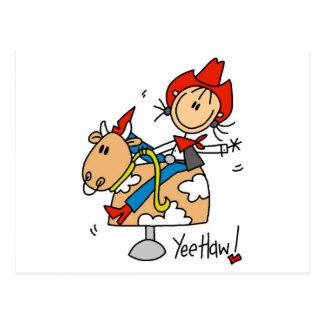 Cowgirl Yee Haw Tshirts and Gifts Postcard