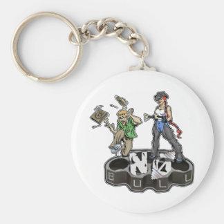 cowgirlnobull basic round button keychain