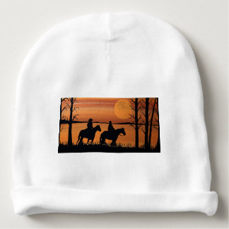 Cowgirls and horses baby beanie