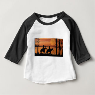 Cowgirls and horses baby T-Shirt