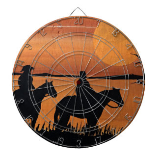 Cowgirls and horses dartboard