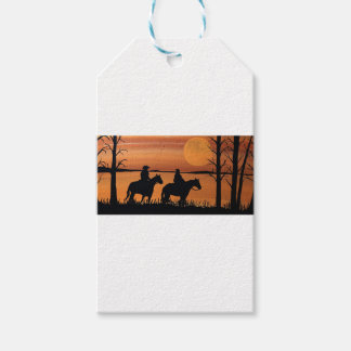 Cowgirls and horses gift tags