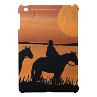 Cowgirls and horses iPad mini cases