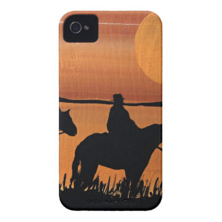 Cowgirls and horses iPhone 4 case