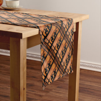Cowgirls and horses short table runner