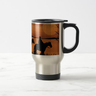 Cowgirls and horses travel mug