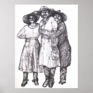 cowgirls circa 1911 poster