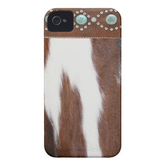 Cowhide and Turquoise Western IPhone 4 Case