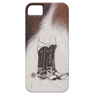 Cowhide Boots Cowboy Cowgirl Western iPhone 5 Case