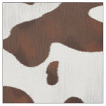 Cowhide Faux Western Leather Spotted Fabric