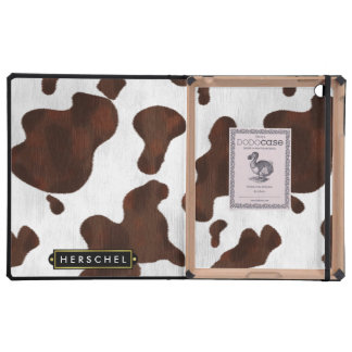 Cowhide Faux Western Leather Spotted Personalized Case For iPad