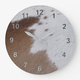 Cowhide Large Clock