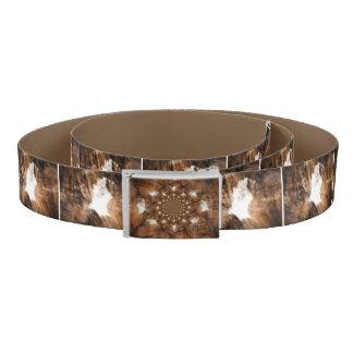 Cowhide print belt