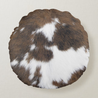 Cowhide Round Pillow
