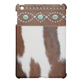 """""""Cowhide & Turquoise"""" Western IPad Case"""