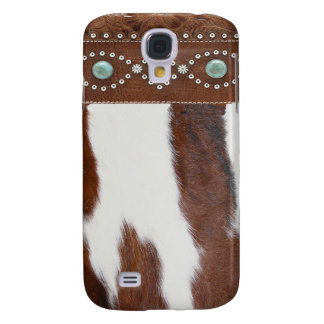 """Cowhide & Turquoise"" Western IPhone 3 Case"