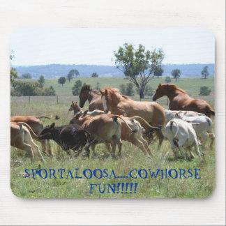 Cowhorse Fun Mouse Pad
