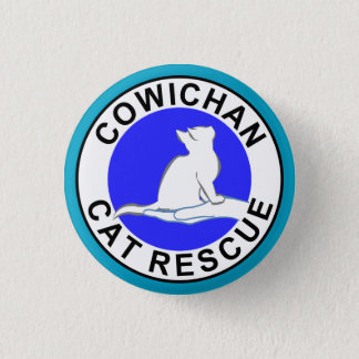 Cowichan Cat Rescue logo 1 Inch Round Button