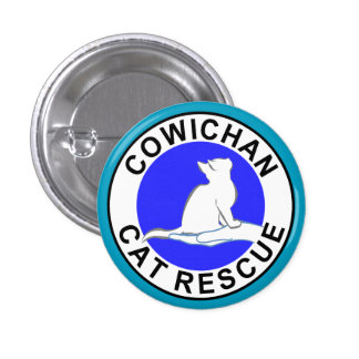 Cowichan Cat Rescue logo 1 Inch Round Button