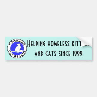 Cowichan Cat Rescue logo Bumper Sticker