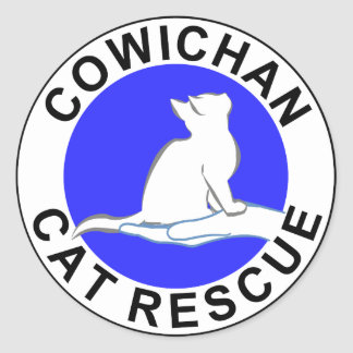 Cowichan Cat Rescue logo Classic Round Sticker