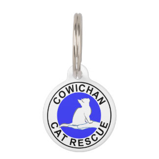 Cowichan Cat Rescue logo Pet Name Tag