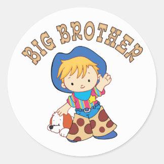 Cowkids Big Brother Round Sticker
