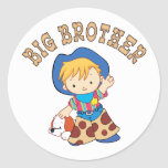 Cowkids Big Brother Round Stickers
