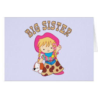Cowkids Big Sister Note Card