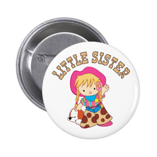 Cowkids Little Sister Pinback Button