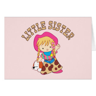 Cowkids Little Sister Greeting Card
