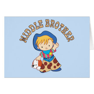 Cowkids Middle Brother Note Card