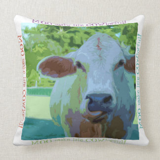 COWlorful cow pillow will liven up any room!