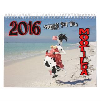 COWmical look at 2016 AnUDDER Year with Mootilda Calendars