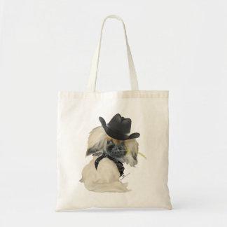 Cowpoke Peke Tote Bag