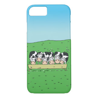 Cows and Catle in a Farmer's Field iPhone 8/7 Case