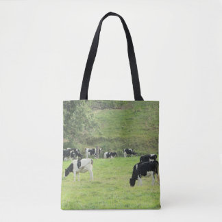 Cows at Pasture Farm Tote Bag