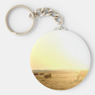 Cows at Sunrise on the Prairies Keychain
