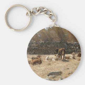 Cows Basic Round Button Keychain